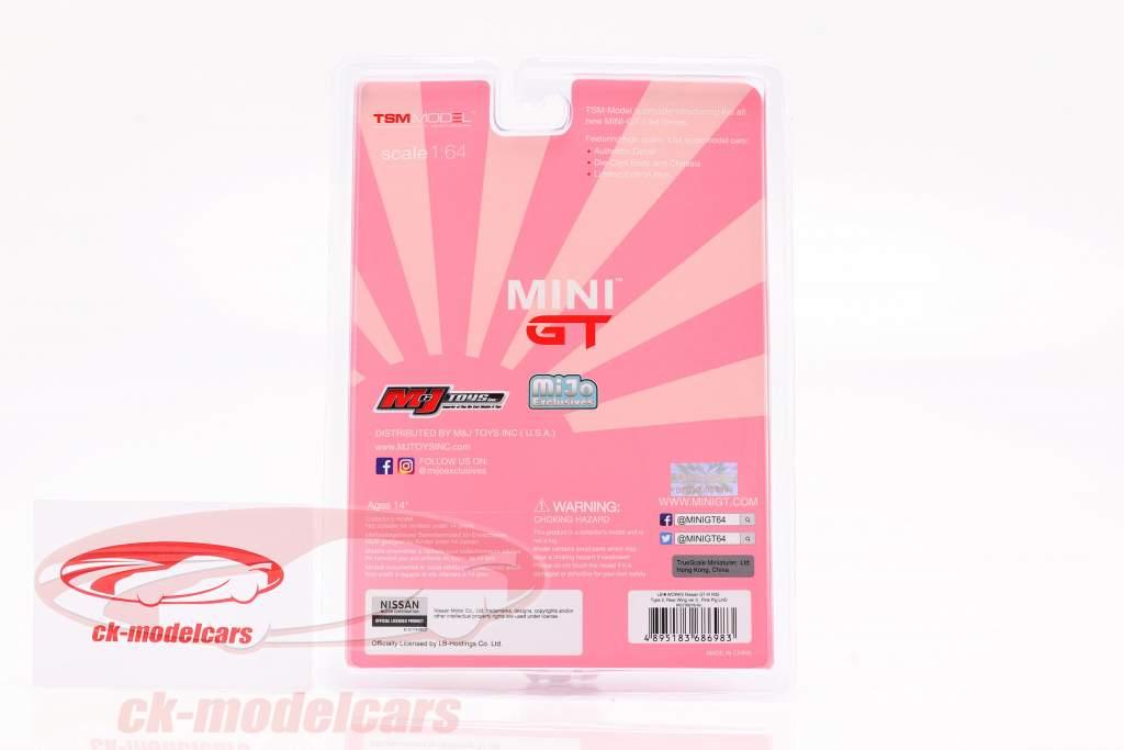 LB-Works Nissan G-TR (R35) Escribe 2 LHD Pink Pig en Blister 1:64 TrueScale