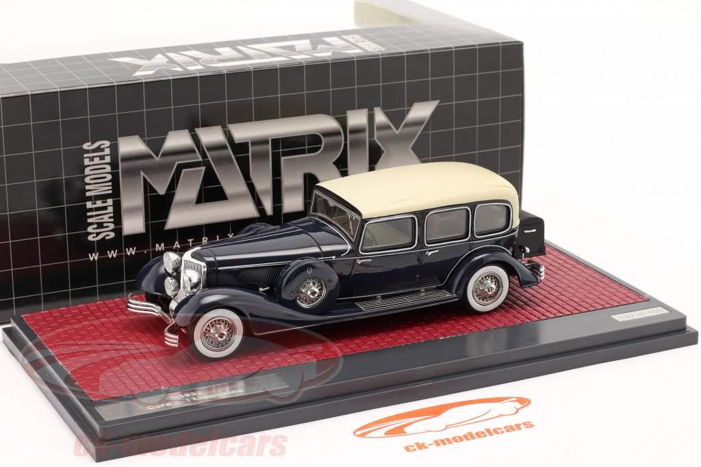 Cord E-1 limousine bouwjaar 1932 donkerblauw 1:43 Matrix