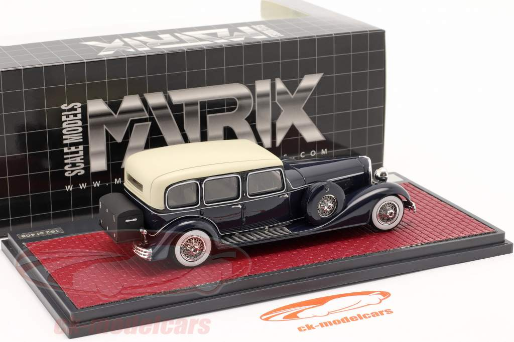 Cord E-1 limousine Anno di costruzione 1932 blu scuro 1:43 Matrix
