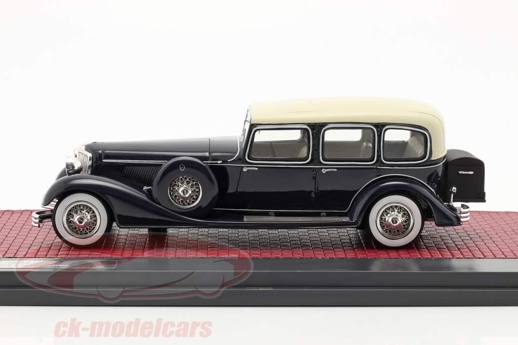 Cord E-1 limusina Año de construcción 1932 azul oscuro 1:43 Matrix