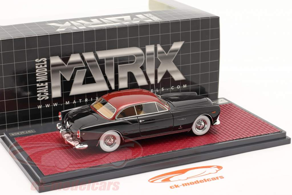 Chrysler ST Special Ghia Coupe 1953 negro / rojo metálico 1:43 Matrix