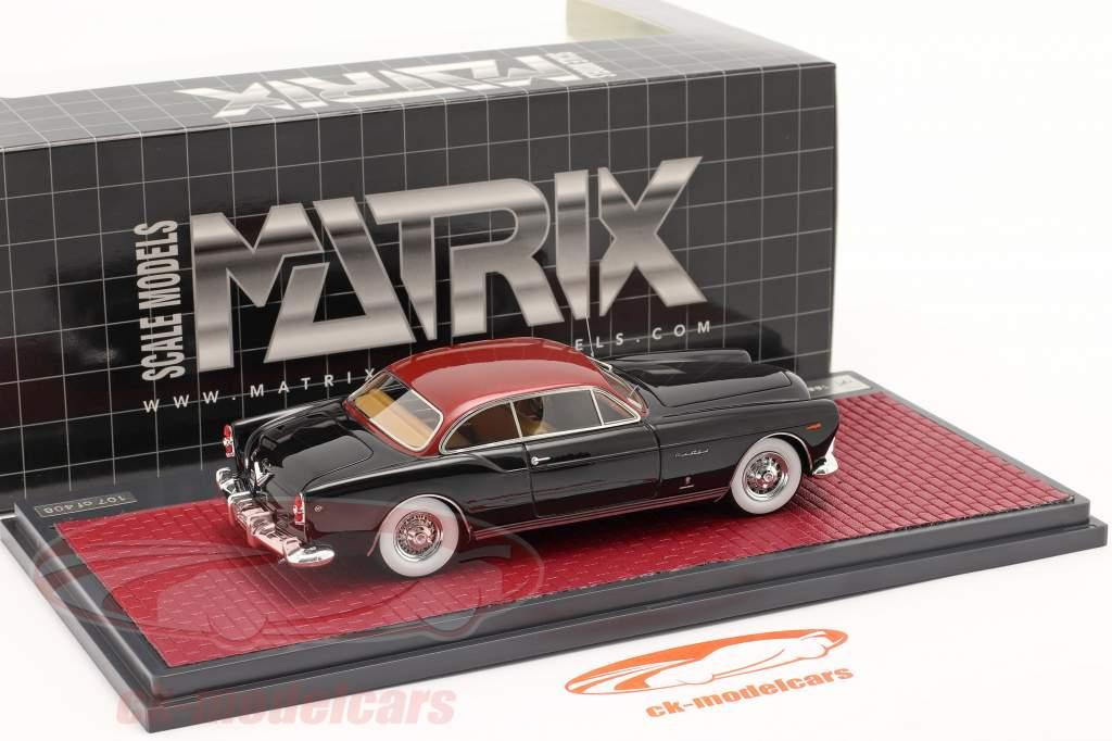 Chrysler ST Special Ghia Coupe 1953 Preto / vermelho metálico 1:43 Matrix