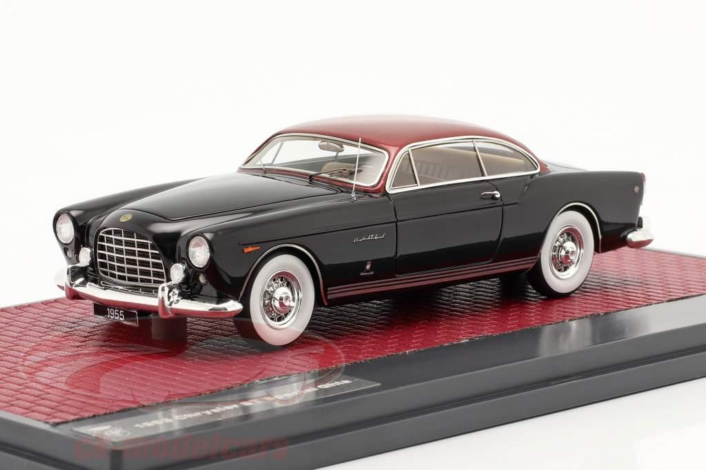 Chrysler ST Special Ghia Coupe 1953 le noir / rouge métallique 1:43 Matrix