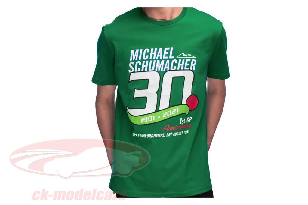 Michael Schumacher T-Shirt First formula 1 GP Spa 1991 green