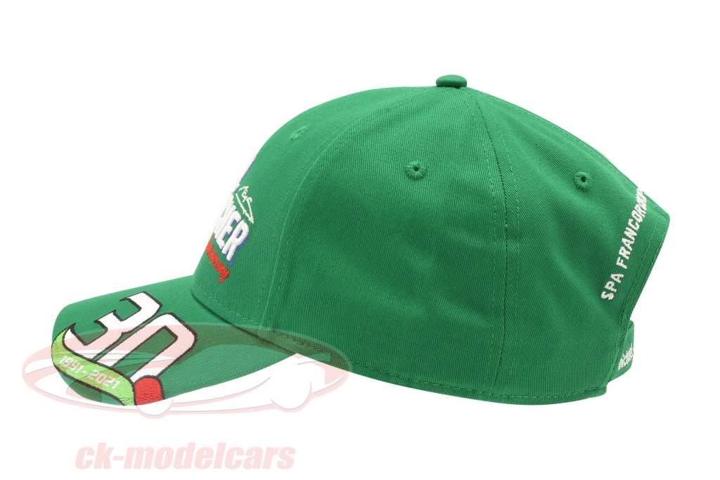 Michael Schumacher Gorra Primero fórmula 1 GP Spa 1991 verde