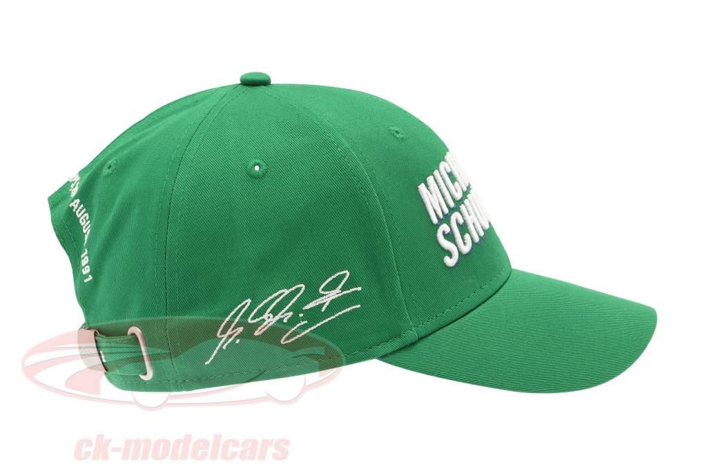 Michael Schumacher Casquette Première formule 1 GP Spa 1991 vert