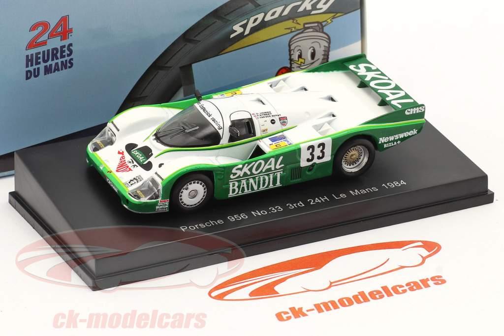 Porsche 956B #33 3rd 24h LeMans 1984 Hobbs, Streiff, van der Merwe 1:64 Spark