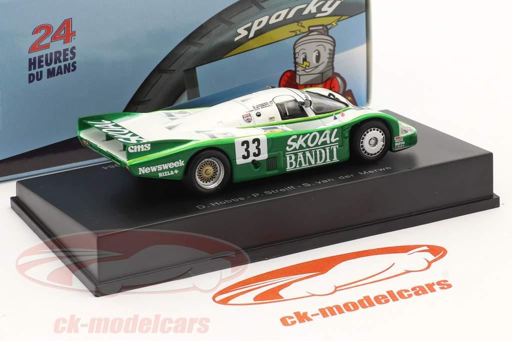 Porsche 956B #33 Tercero 24h LeMans 1984 Hobbs, Streiff, van der Merwe 1:64 Spark