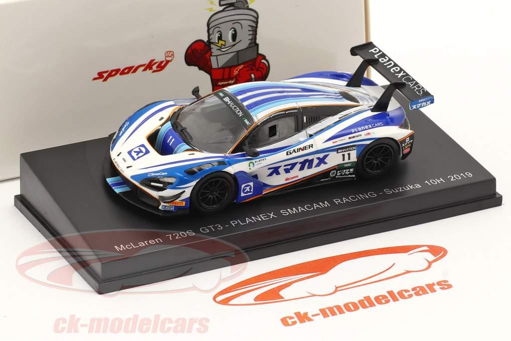 McLaren 720S GT3 #11 10h Suzuka 2019 Häkkinen, Ishiura, Kubota 1:64 Spark