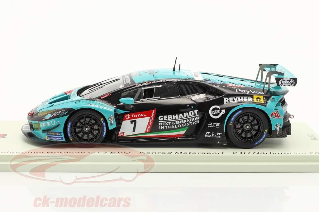 Lamborghini Huracan GT3 Evo #7 24h Nürburgring 2019 Konrad Motorsport 1:43 Spark