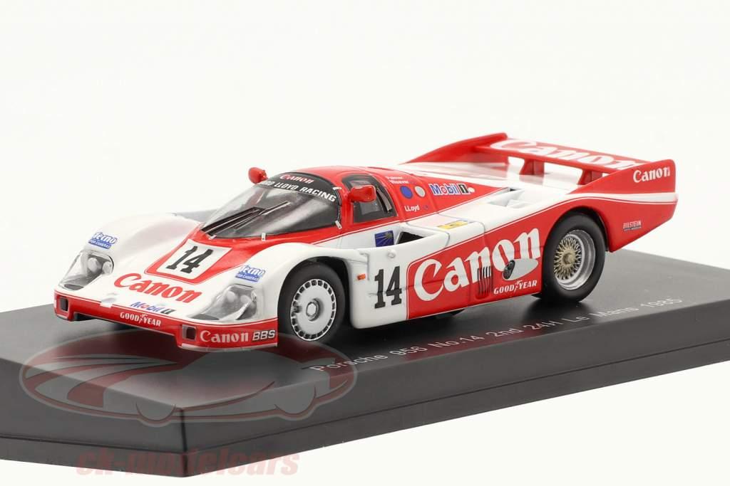 Porsche 956 #14 2e 24h LeMans 1985 Palmer, Weaver, Lloyd 1:64 Spark