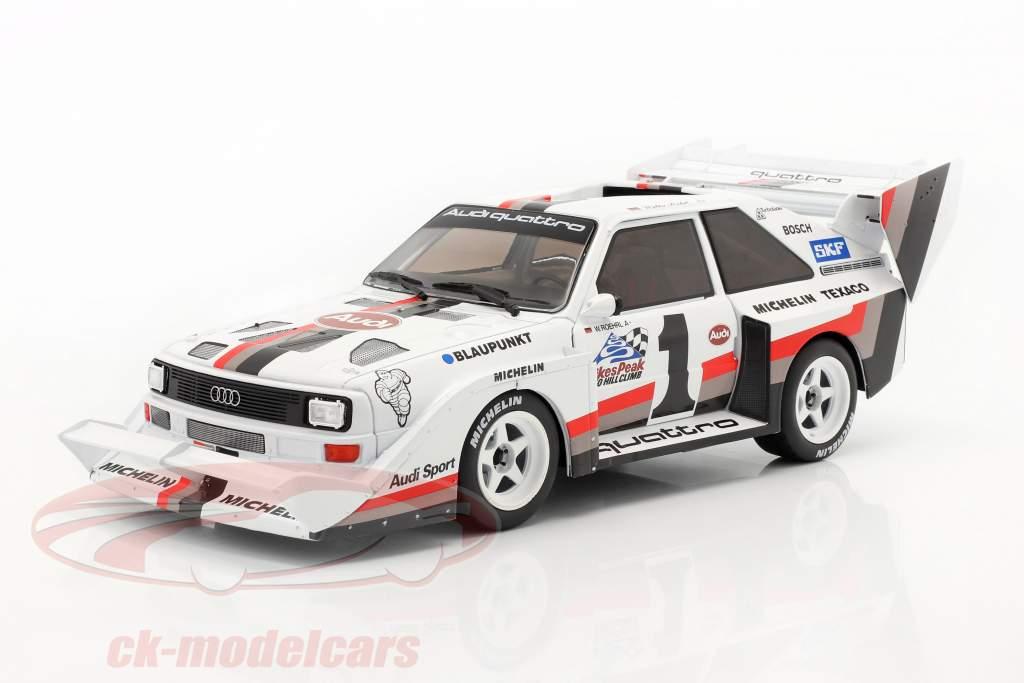 Audi Sport quattro S1 E2 #1 Winnaar Pikes Peak 1987 Walter Röhrl 1:18 CMR