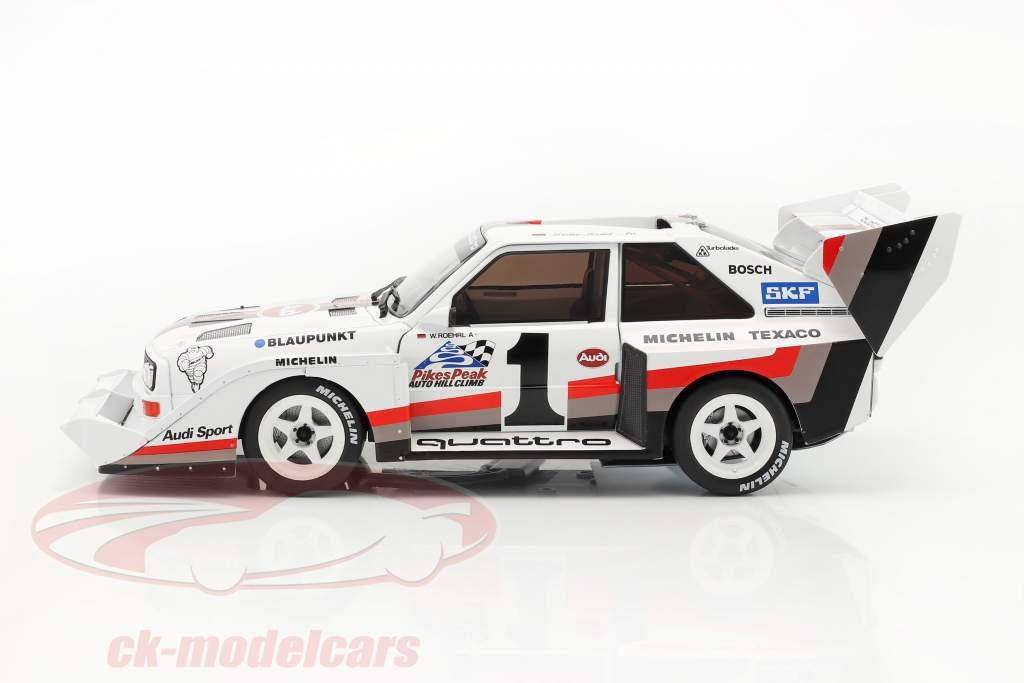 Audi Sport quattro S1 E2 #1 Vencedora Pikes Peak 1987 Walter Röhrl 1:18 CMR