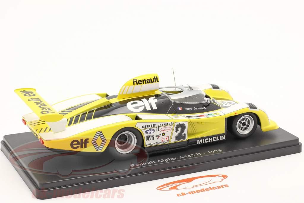 Renault Alpine A442B #2 vinder 24h LeMans 1978 Pironi, Jaussaud 1:24 Hachette