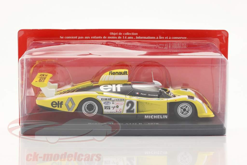 Renault Alpine A442B #2 ganador 24h LeMans 1978 Pironi, Jaussaud 1:24 Hachette