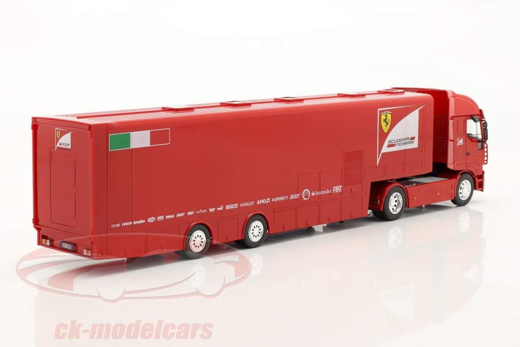 Iveco Stralis Renntransporter Scuderia Ferrari rot 1:43 Altaya