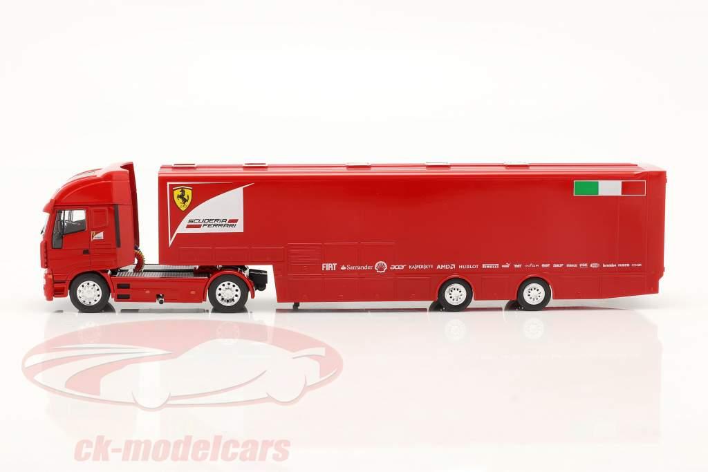 Iveco Stralis Raza Coche Transportador Scuderia Ferrari rojo 1:43 Altaya