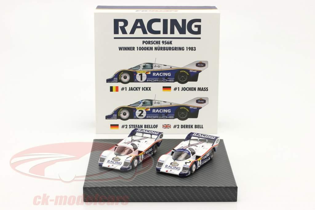 2 auto's Set Porsche 956K #1 & #2 1000km Nürburgring 1983 1:43 Werk83
