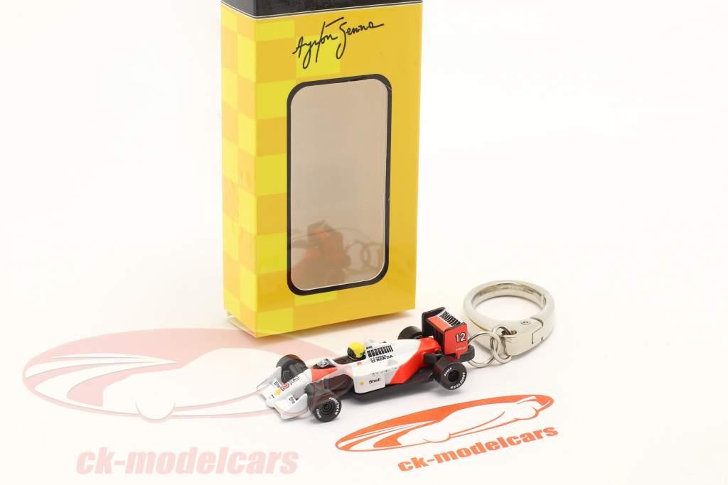 Ayrton Senna Llavero McLaren MP4/4 #12 fórmula 1 Campeón mundial 1988 1:87 Ixo