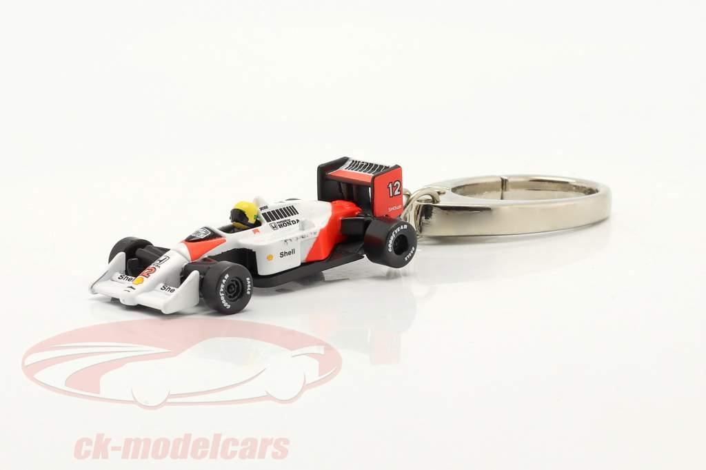 Ayrton Senna Schlüsselanhänger McLaren MP4/4 #12 Formel 1 Weltmeister 1988 1:87 Ixo