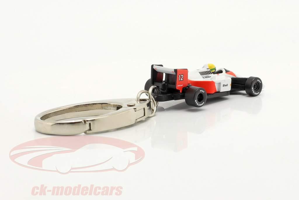 Ayrton Senna Portachiavi McLaren MP4/4 #12 formula 1 Campione del mondo 1988 1:87 Ixo