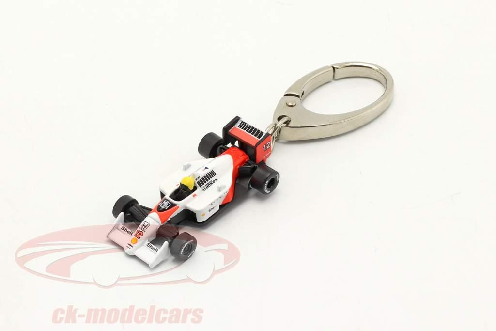 Ayrton Senna Porte-clés McLaren MP4/4 #12 formule 1 Champion du monde 1988 1:87 Ixo