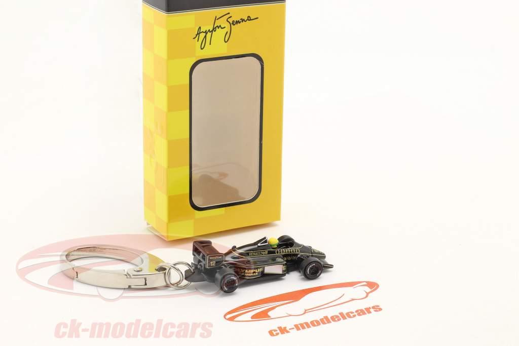 Ayrton Senna Sleutelhanger Lotus 97T #12 formule 1 1985 1:87 Ixo