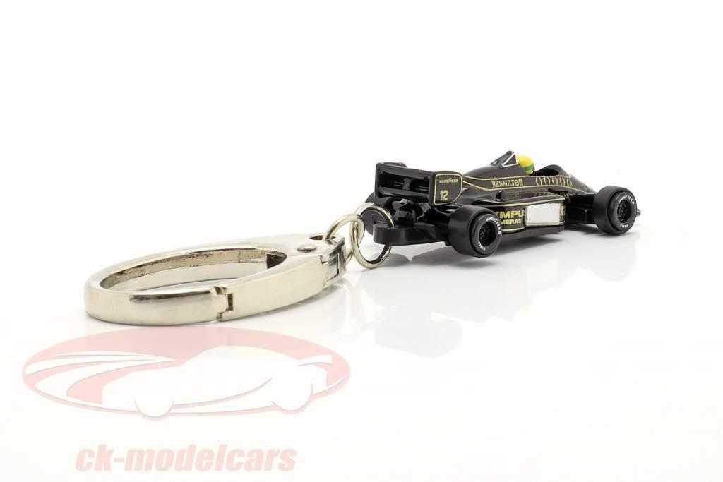 Ayrton Senna Chaveiro Lotus 97T #12 Fórmula 1 1985 1:87 Ixo