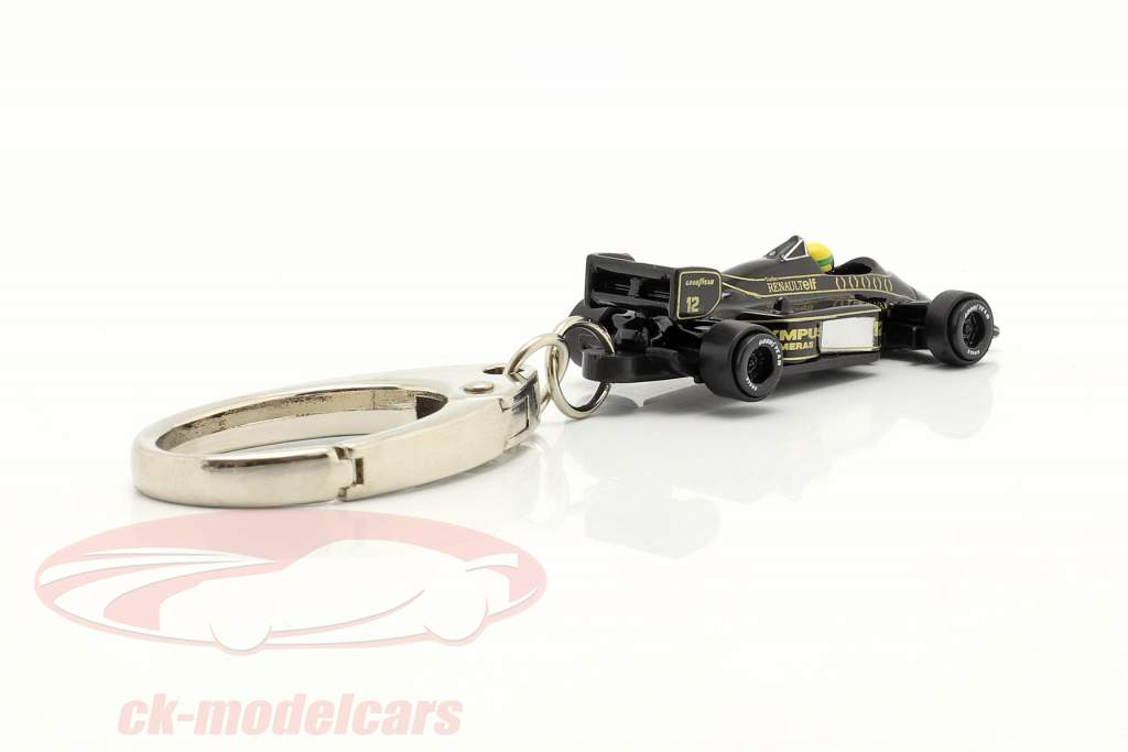 Ayrton Senna Keyring Lotus 97T #12 formula 1 1985 1:87 Ixo