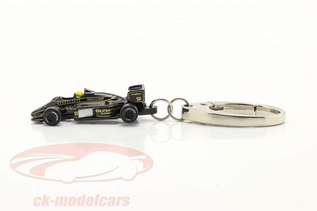 Ayrton Senna Porte-clés Lotus 97T #12 formule 1 1985 1:87 Ixo