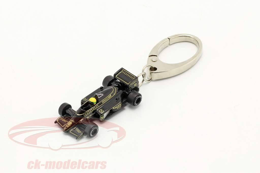 Ayrton Senna Nøglering Lotus 97T #12 formel 1 1985 1:87 Ixo