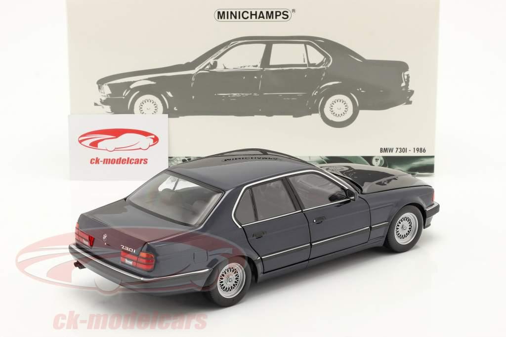 BMW 730i (E32) Baujahr 1986 dunkelblau metallic 1:18 Minichamps