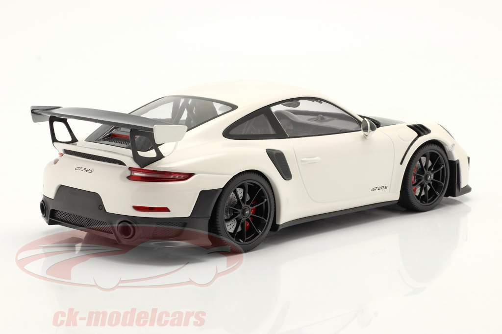 Porsche 911 (991 II) GT2 RS Weissach Package 2018 Branco / Preto aros 1:18 Minichamps