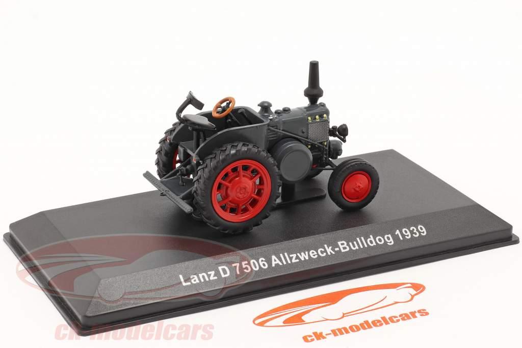 Lanz D 7506 Bulldog til alle formål Byggeår 1939 mørkegrå 1:43 Hachette