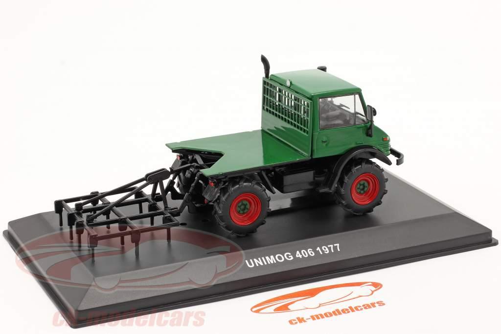 Mercedes-Benz Unimog 406 Ano de construção 1977 verde 1:43 Hachette
