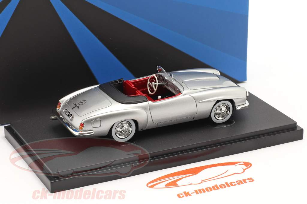 Mercedes-Benz 190 SL Speedster Prototyp 1954 silber 1:43 AutoCult