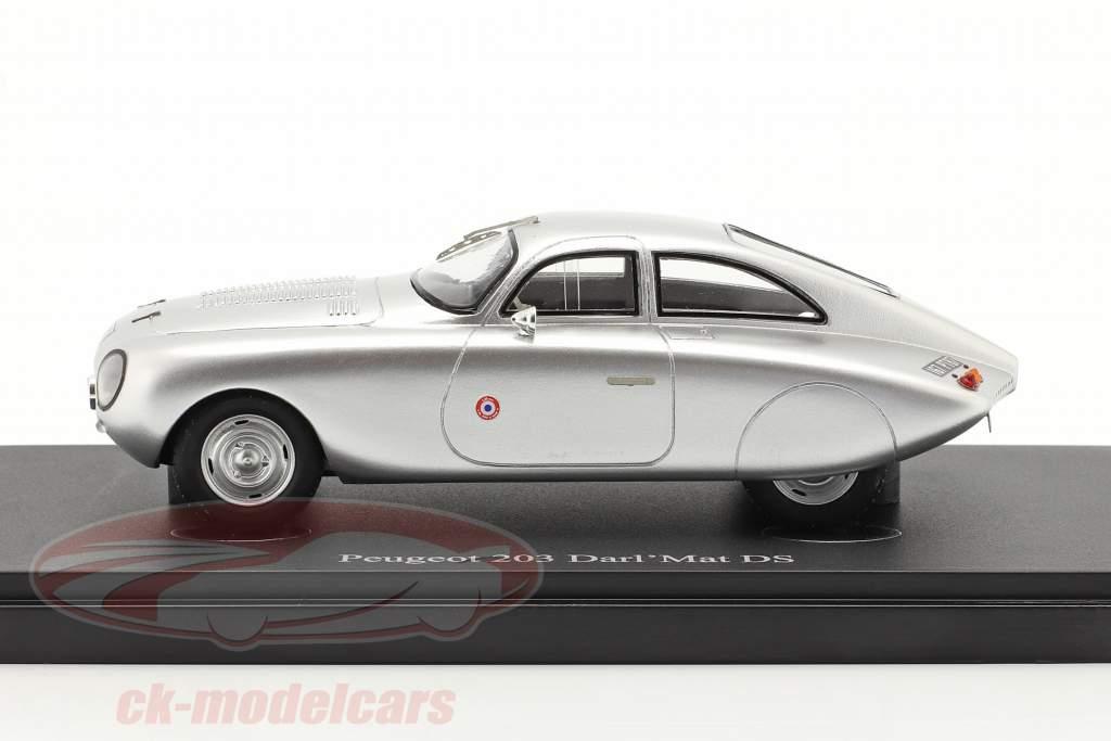 Peugeot 203 Darl'Mat DS Anno di costruzione 1953 d'argento 1:43 AutoCult