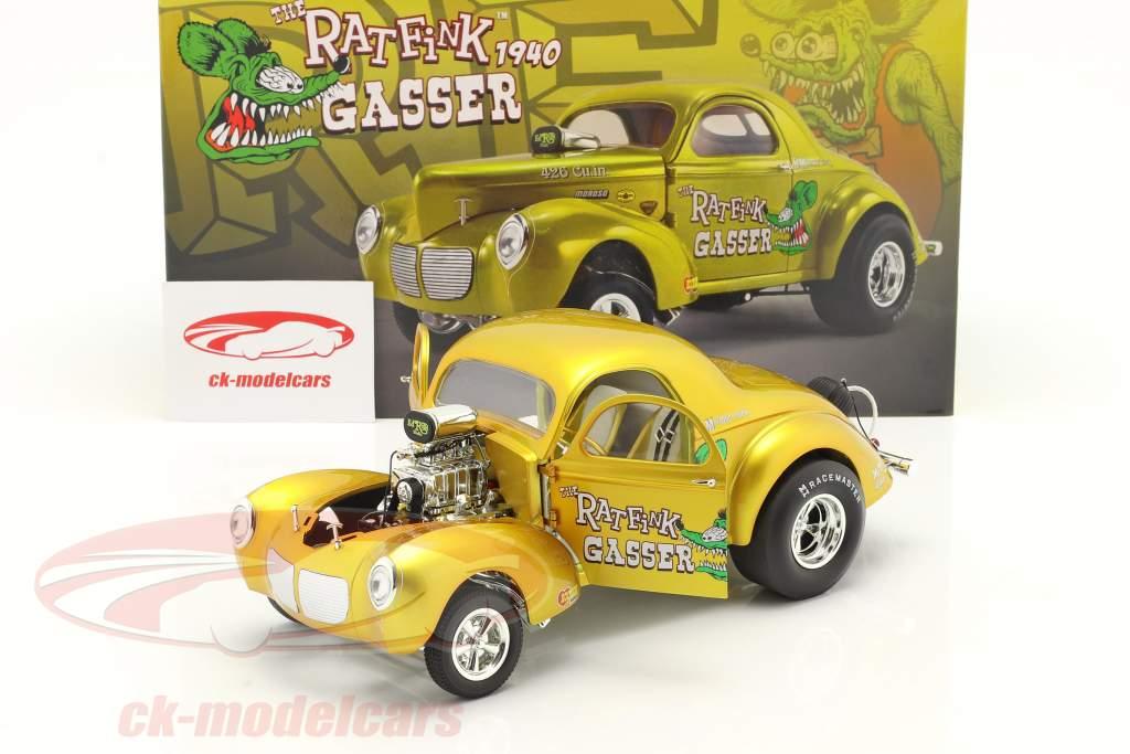 Gasser Rat Fink bouwjaar 1940 goud 1:18 MGP