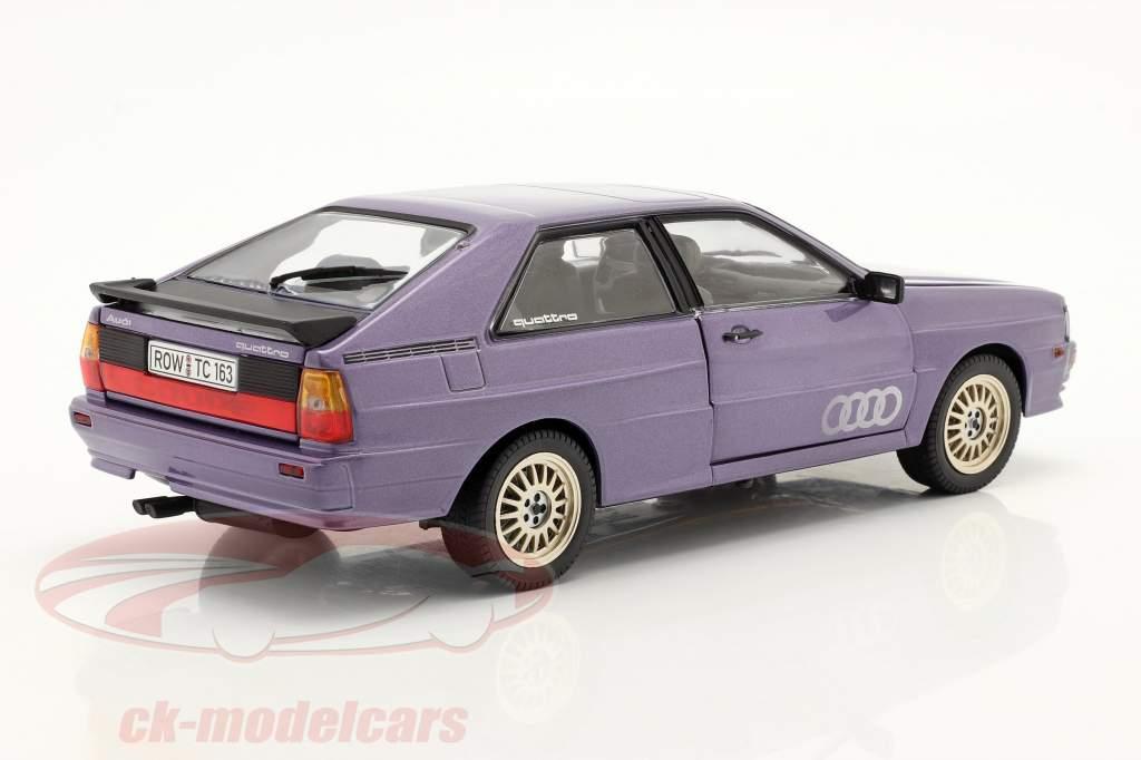 Audi Quattro Coupe year 1983 purple 1:18 SunStar