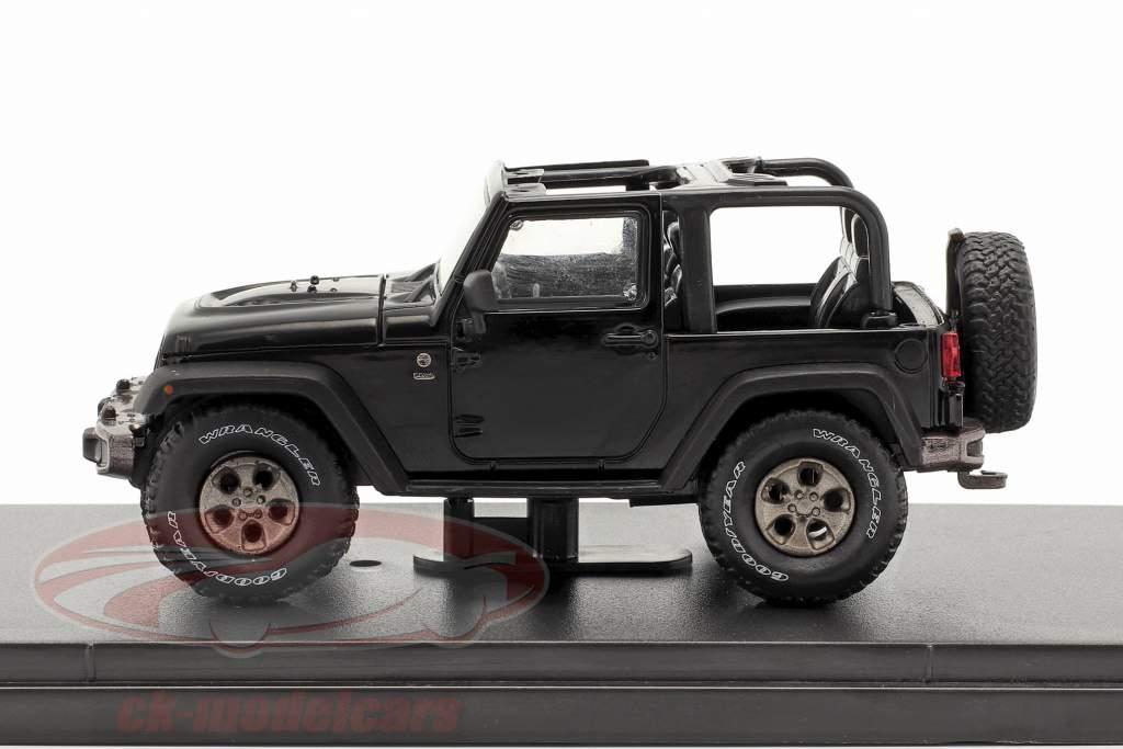 Jeep Wrangler Baujahr 2016 75th Anniversary Edition schwarz 1:43 Greenlight