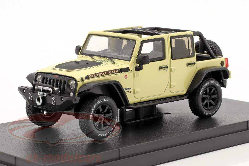 Jeep Wrangler Byggeår 2018 Unlimited Rubicon Recon beige 1:43 Greenlight
