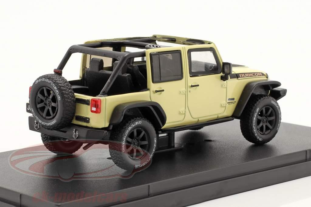 Jeep Wrangler Baujahr 2018 Unlimited Rubicon Recon beige 1:43 Greenlight