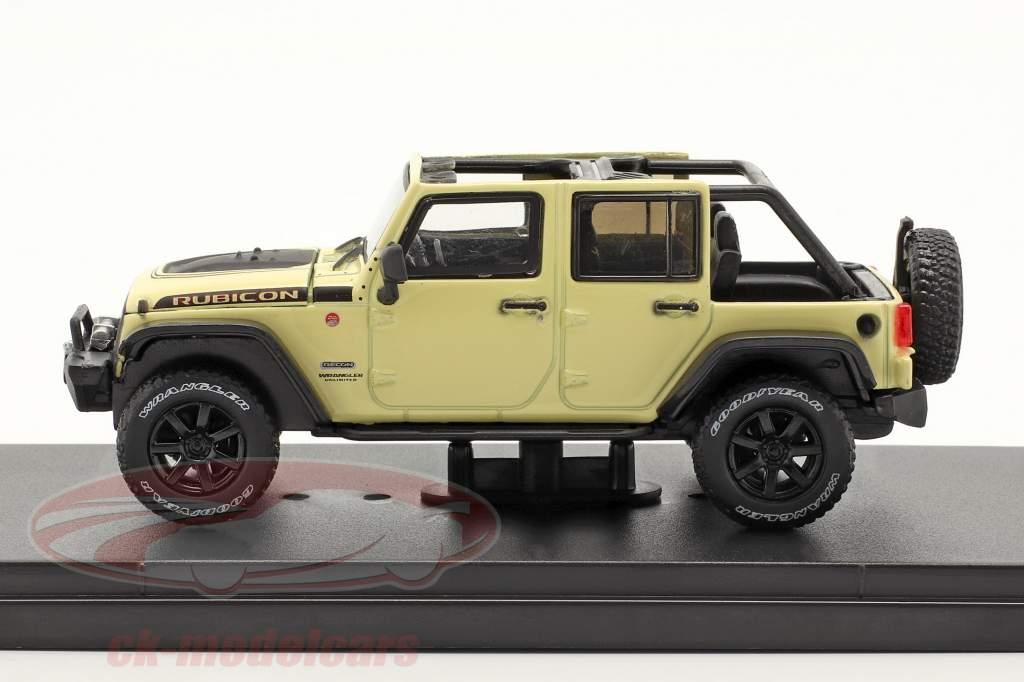 Jeep Wrangler Año de construcción 2018 Unlimited Rubicon Recon beige 1:43 Greenlight