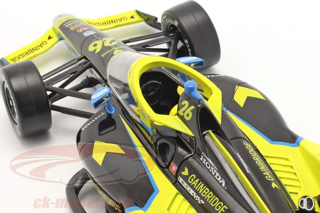 Colton Herta Andretti Autosport #26 IndyCar Series 2021 1:18 Greenlight