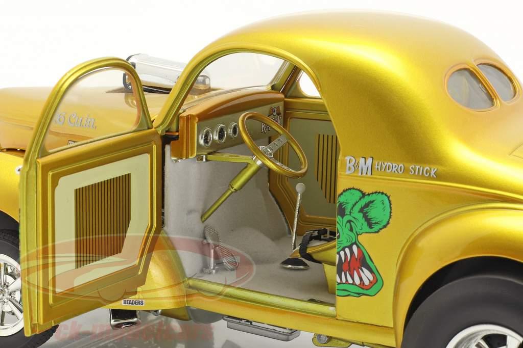 Gasser Rat Fink Ano de construção 1940 ouro 1:18 MGP