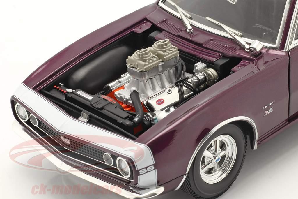Chevrolet Camaro Drag Outlaws Anno di costruzione 1967 viola 1:18 MGP