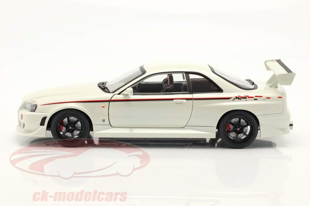 Nissan Skyline GT-R (BNR34) Ano de construção 1999 pérola Branco 1:18 Greenlight