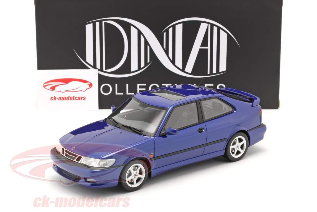 Saab 9-3 Viggen Coupe Année de construction 2000 bleu métallique 1:18 DNA Collectibles