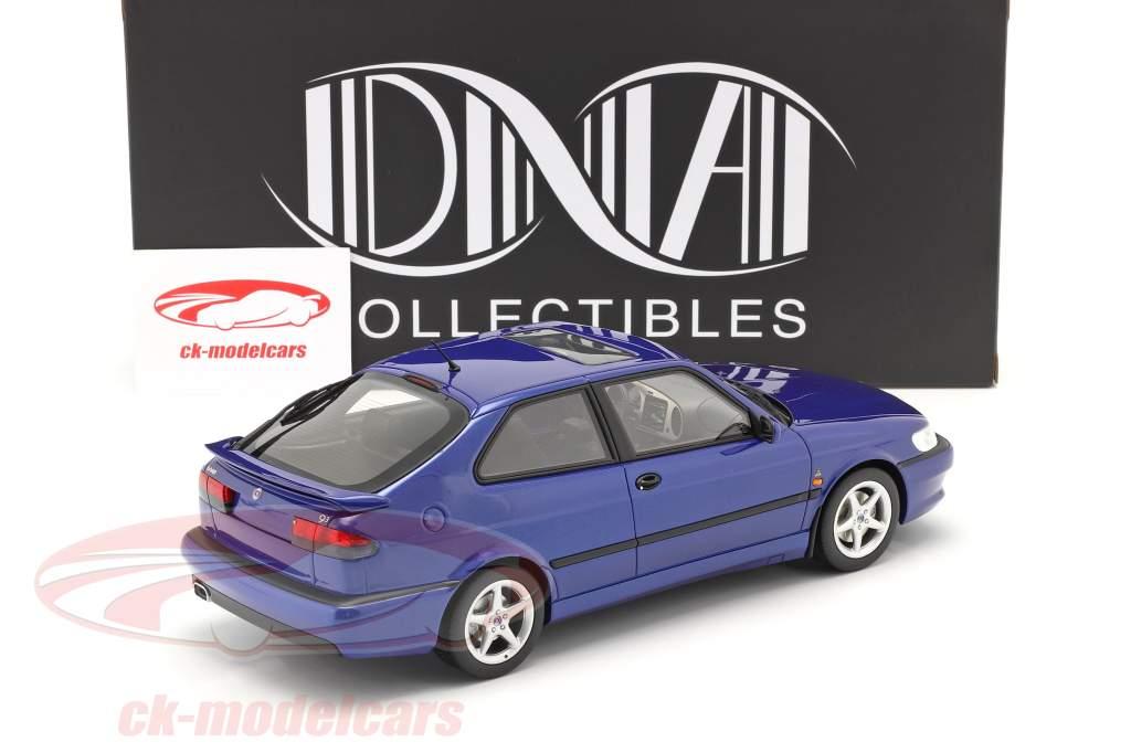 Saab 9-3 Viggen Coupe Byggeår 2000 blå metallisk 1:18 DNA Collectibles