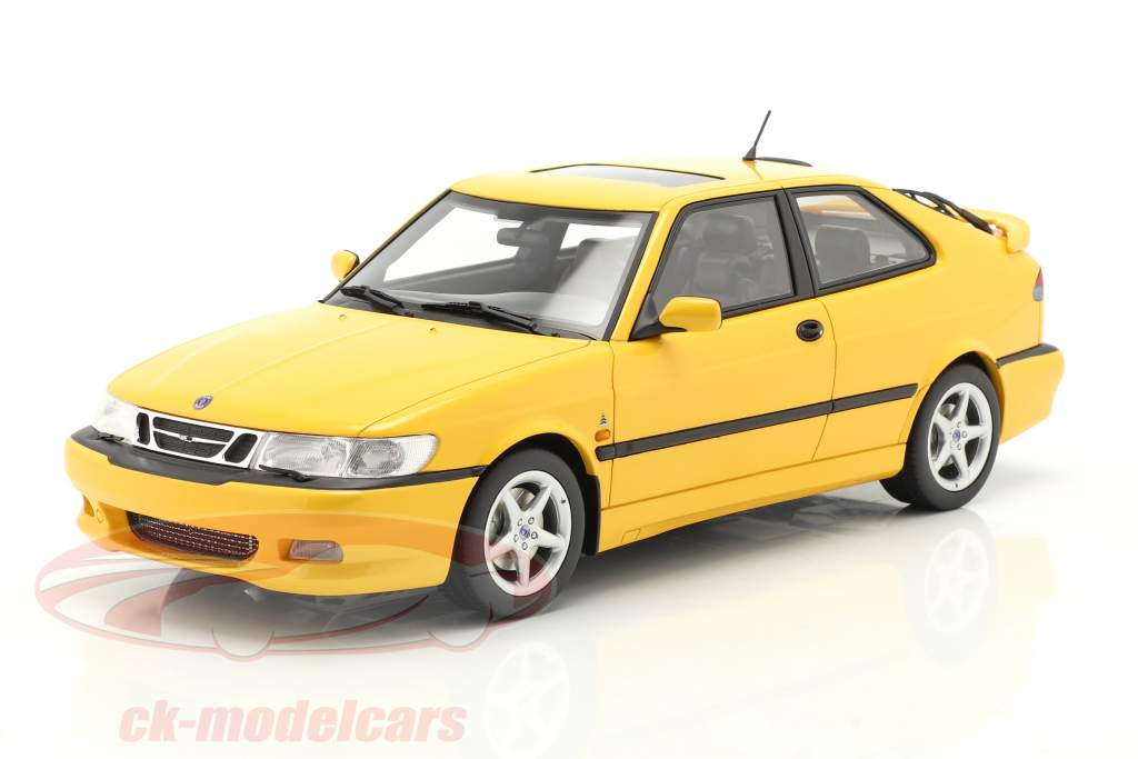 Saab 9-3 Viggen Coupe year 2000 yellow metallic 1:18 DNA Collectibles